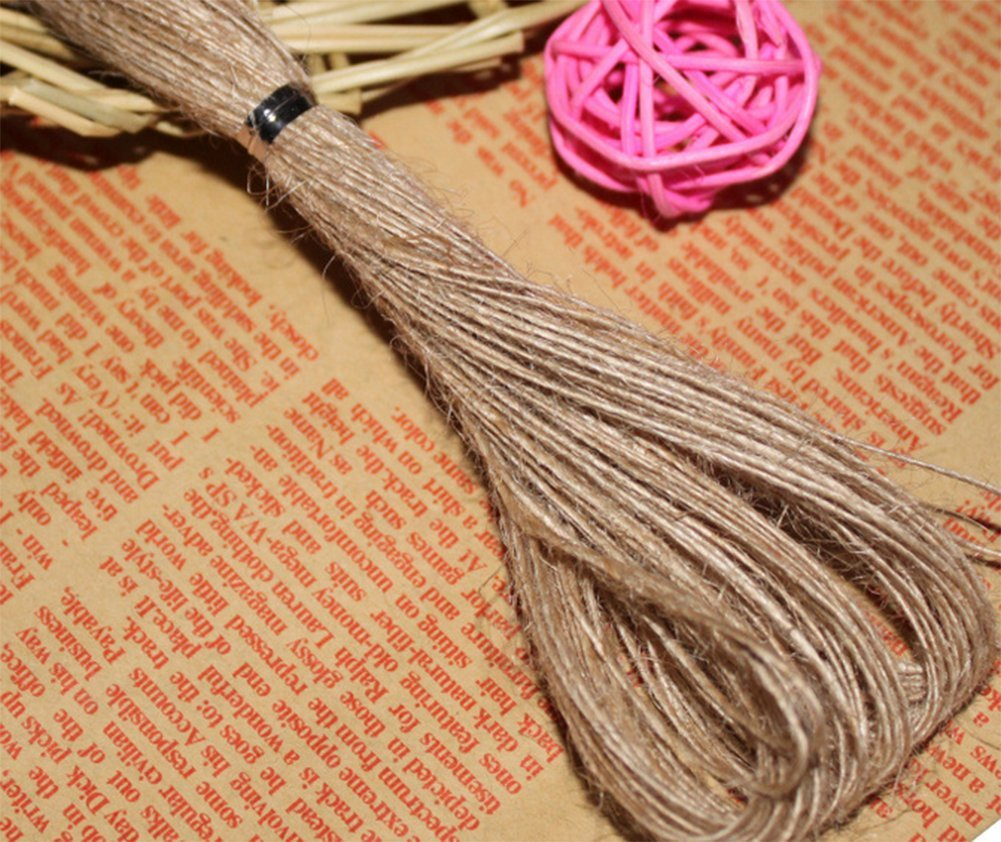 Demarkt Jute Twine Hemp Rope String Crafting Cord For Arts Crafts DIY Decoration Industrial Packing Gift Wrapping size 20m