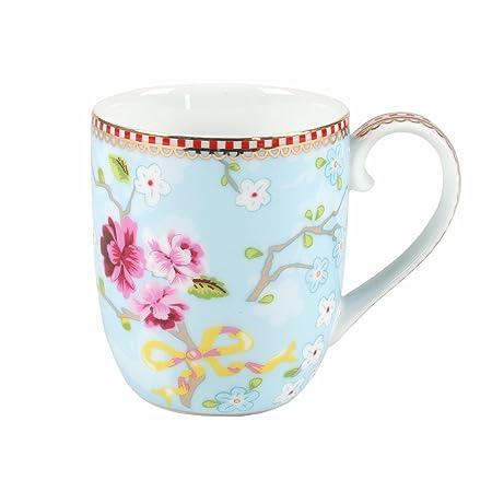 bc8ba77a0aa PiP Studio Senseo Chinese Rose Porcelain Mug 8.5cm, Blue: Amazon.co.uk:  Kitchen & Home
