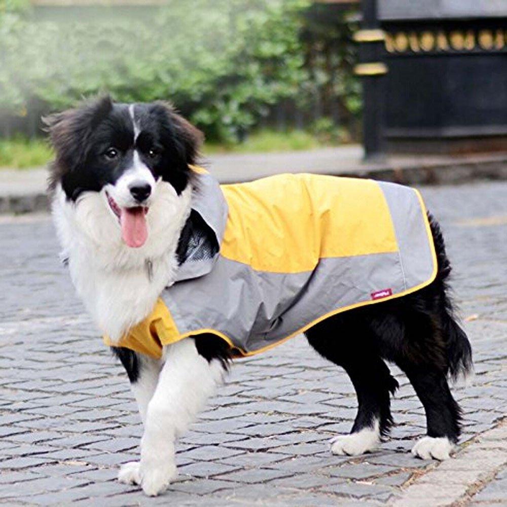 Bolbove Big Dog Hooded Raincoat Slicker Rain Poncho Waterproof Jacket for Medium to Large Dogs (10, Orange) by Bolbove