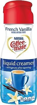 6-Pack Coffeemate Liquid, French Vanilla