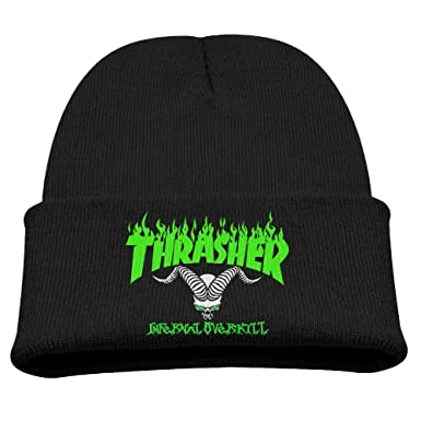 Kids Toddler Thrasher Magazine Winter Autumn Knit Beanies Hats Designer  Skullies Hats Black One Size 5e08a2527c4