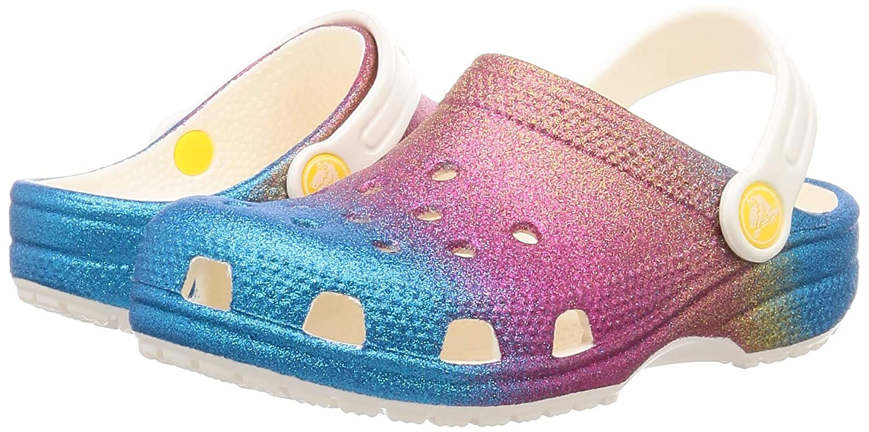 Girls Slip on Shoe for Toddlers Crocs Kids Classic Glitter Clog Boys