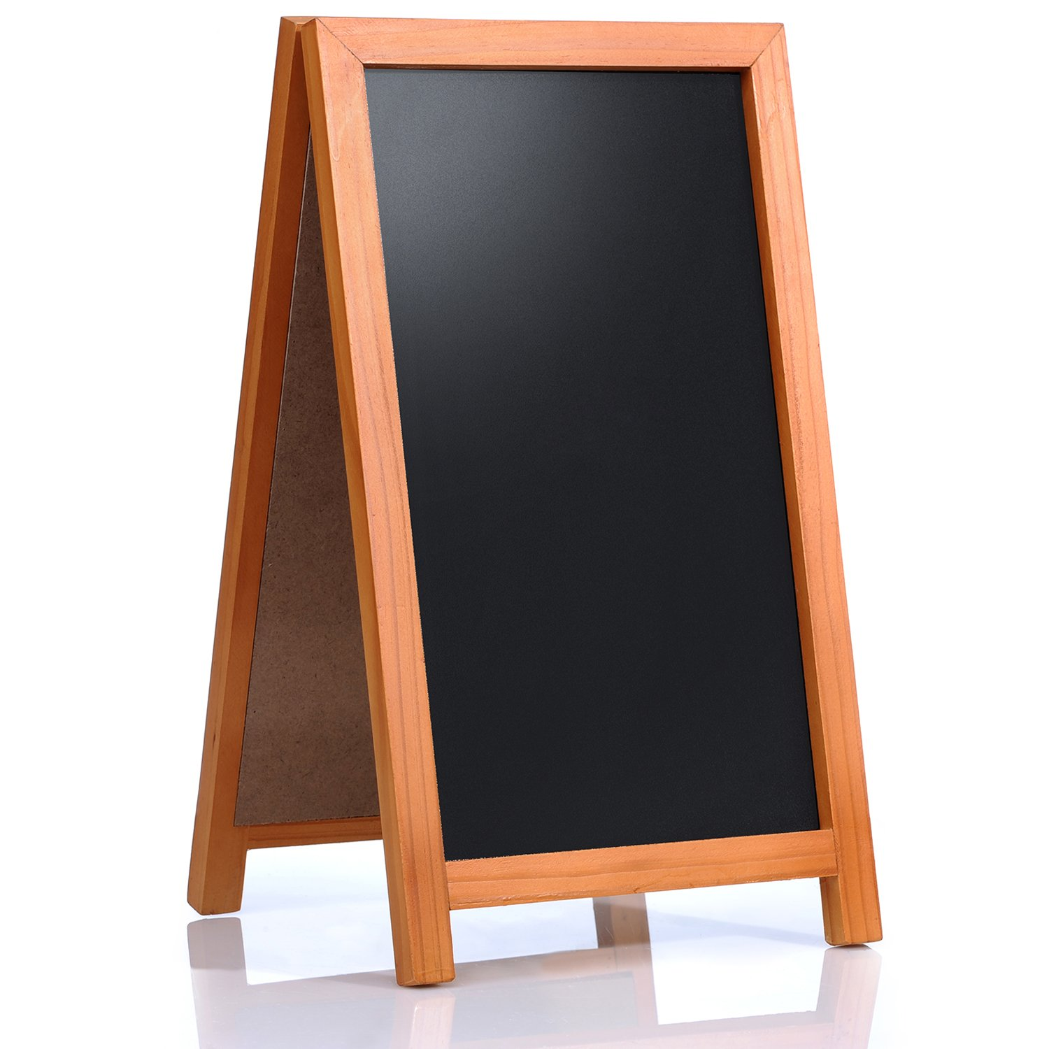 """Cedar Markers 42""""x24"""" A Frame Chalkboard Sign. Sidewalk Chalk Board Standing Sign. Blackboard for Restaurants, Bars, Shops and Wedding Signs. Robust Indoor and Outdoor Sandwich Sign for Chalk Markers."""
