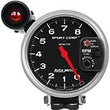 Auto Meter 3905 Sport-Comp Shift-Lite Tachometer,5.000 in.