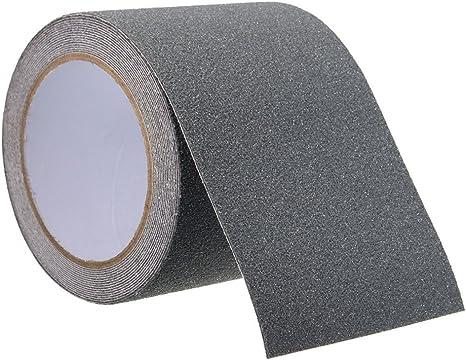 OneMoreT r - Cinta adhesiva antideslizante de seguridad para peldaños de escalera, rollo de cinta adhesiva antideslizante para piscina, baño, escaleras, fábricas, 5 m: Amazon.es: Instrumentos musicales