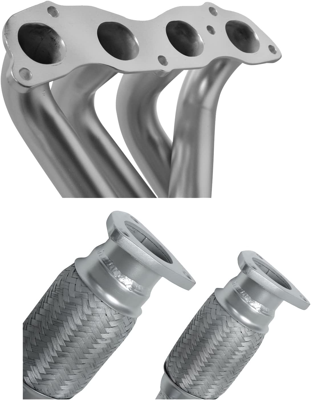 Civic CRX DC Sports AHR6516 Ceramic Coated Stainless Steel 4-2-1 Racing Header fits 1994-01 Accura Integra and 1994-01 Honda All Models of Accord Silver Del Sol