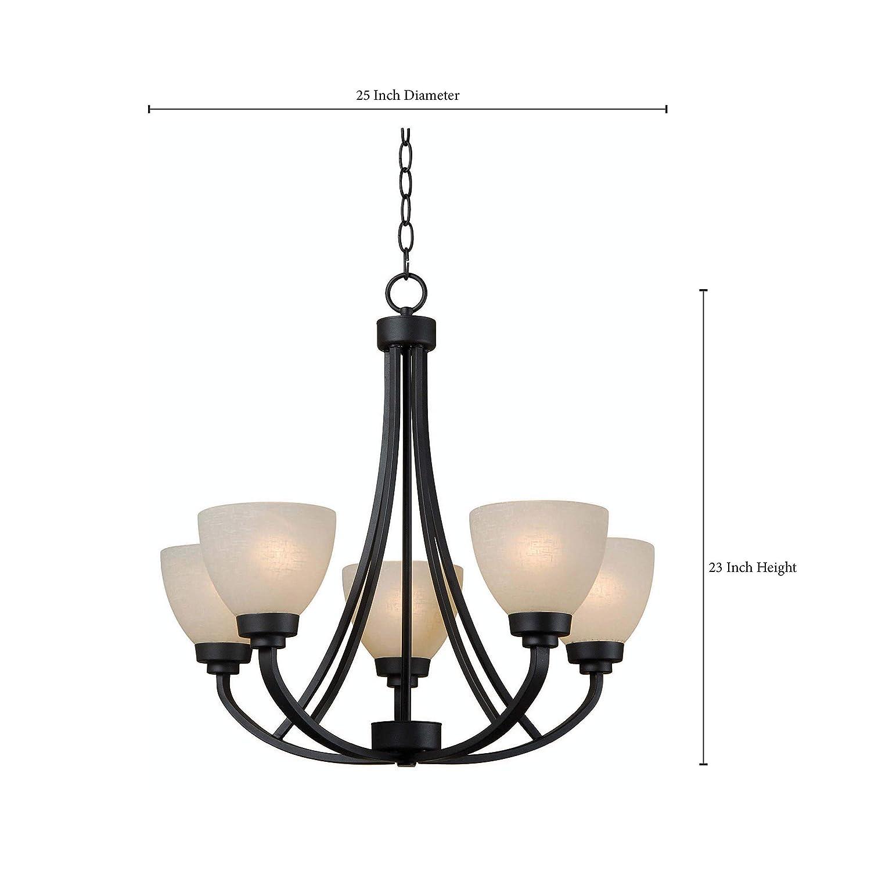 Amazon.com: kenroy Home 93195 Seda 5 luz 1 Tier – Lámpara de ...