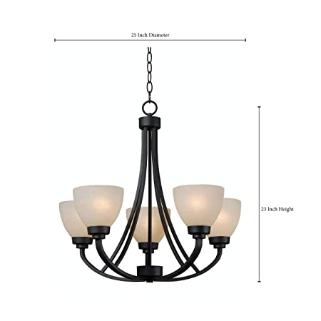 Kenroy Home 93195BBZ Dynasty 5-Light Chandelier, 25 x 25 x 23 , Burnished Bronze Finish