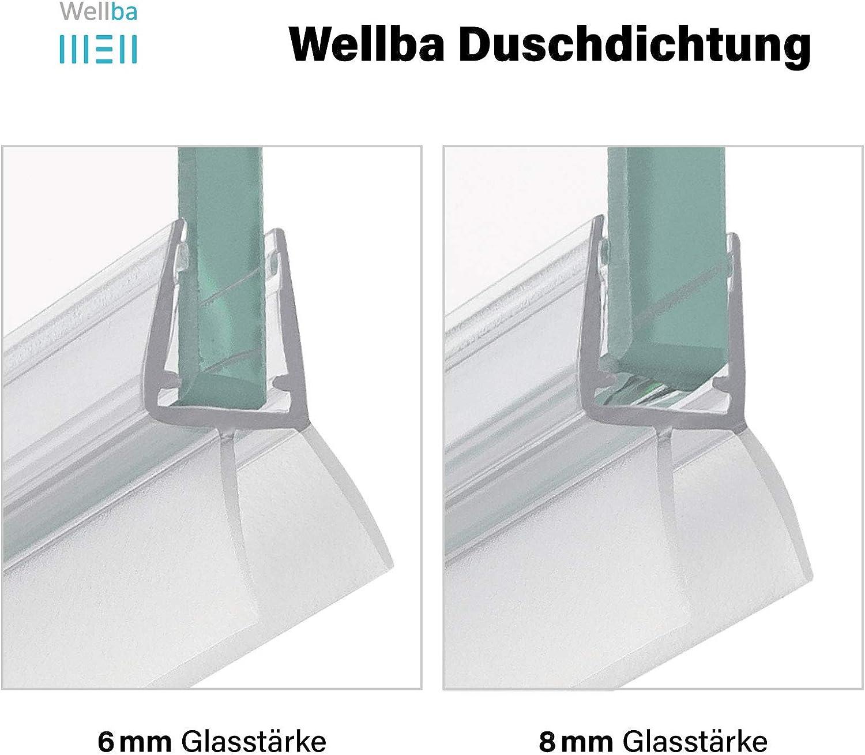 2x 90cm Long Bath Shower Screen Door Seal Strip Glass Thickness 4-6mm