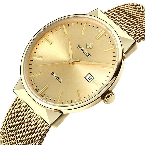wwoor 8826 W hombre relojes japanese-quartz puntero pantalla 30 m resistente al agua reloj