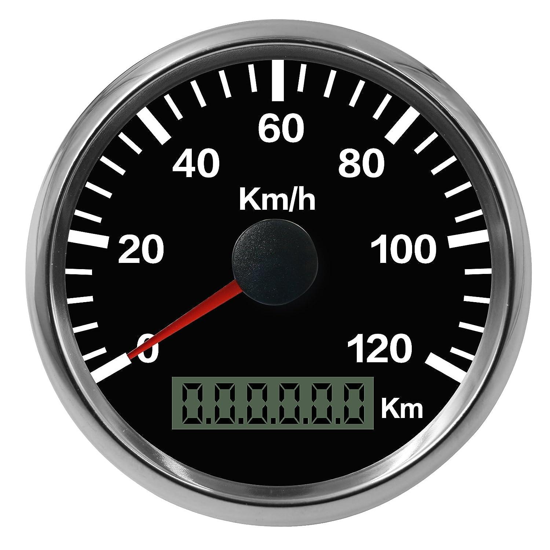 /120/kmh contachilometri 12/V 24/V auto moto camion furgoni barca Autool 85/mm GPS impermeabile in 0/