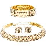 FANCY LOVE Crystal Rhinestone Bridal Necklace...