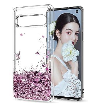 LeYi Compatible with Funda Samsung Galaxy S10 5G Silicona Purpurina Carcasa con HD Protectores de Pantalla Transparente Cristal Bumper Telefono Gel ...