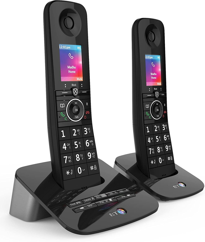 BT Premium - Teléfono inalámbrico con bloqueo de llamadas, sincronización móvil y máquina de contar, 2 unidades: Amazon.es: Electrónica
