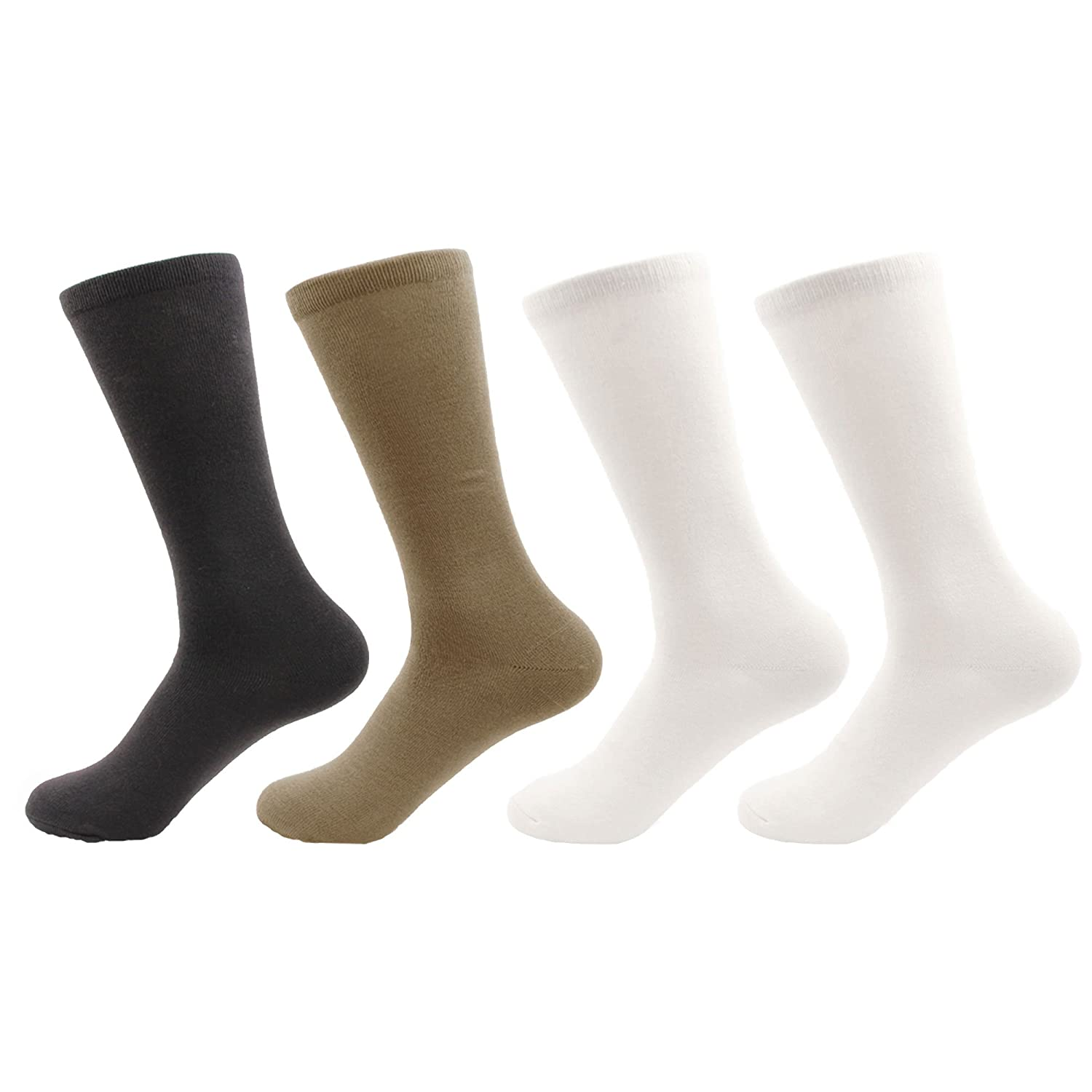 673a3e969b034 BambooMN Men's Rayon from Bamboo Fiber Moisture Wicking Luxury  Antibacterial Casual Dress Mid-Calf Socks - Black - 8prs, Size 6-10 at  Amazon Men's Clothing ...