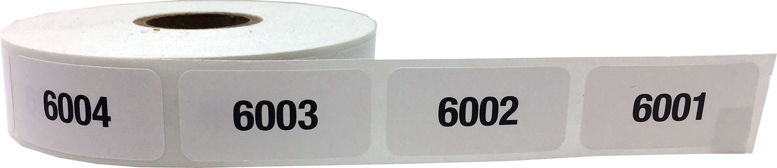 Consecutive Number Labels Bulk Pack Numbers 1 Through 10,000 White/Black .75 x 1.5 Rectangle Small Number Stickers For Inventory by InStockLabels.com (Image #9)