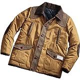 [ヘリンボーンクラブ]HERRINGBONE CLUB ハリスツイードがアクセントの 中綿入り リバーシブル ジャケット メンズ