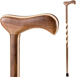 product image for Handcrafted Wood Walking Cane - Made in the USA by Brazos - Twisted Laminated Walnut/Maple - 40 Inches