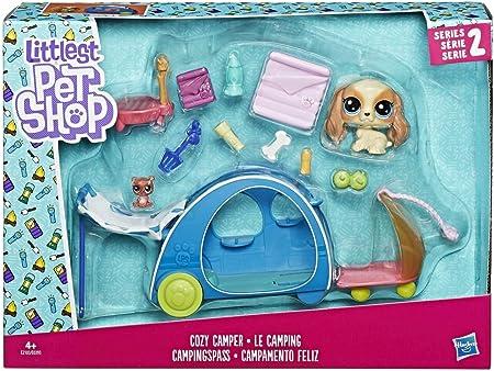 Littlest Pet Shop Littlest Pet Shop-E2103ES0 Campamento Feliz (Hasbro E2103ES0)
