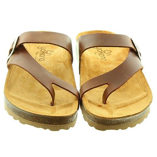 4e225c98b Yokono Ladies Mabul013 Toe Loop Sandals In Brown  Amazon.co.uk ...