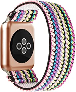 BMBEAR Stretchy Strap Loop Compatible with Apple Watch Band 38mm 40mm Watch Series 6/5/4/3/2/1 Candy Colors