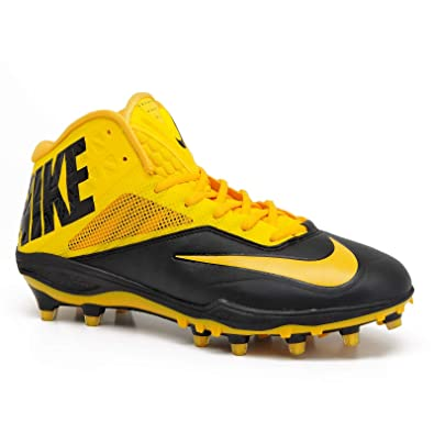 detailed look 88186 4723d Amazon.com   Nike Zoom Code Elite Yellow Blk 3 4 Mid TD Mens Football  Cleats Lineman Shoe 17   Football