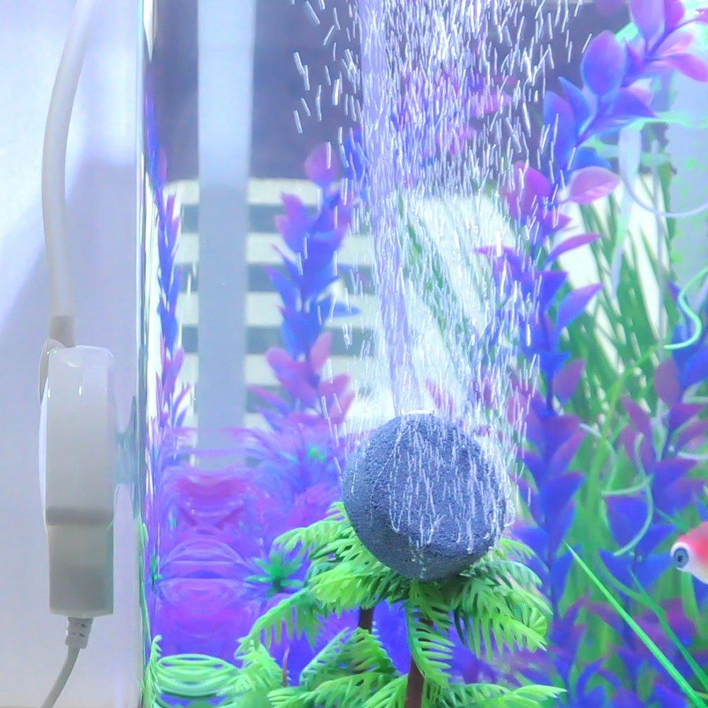 Mylivell Super Quiet Aquarium Air Pump High Out Oxygen Air Pump for Fish Tank Aquaculture White