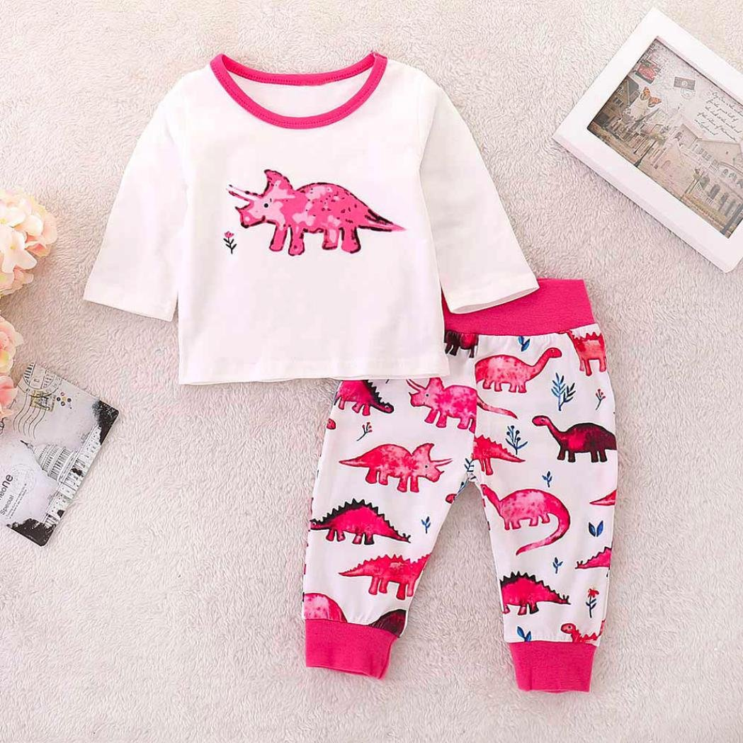 Amazon.com: Newborn Sets,Jchen(TM) 3Pcs Toddler Baby Boys Girls Cartoon Dinosaur Print Romper Tops Pants Outfits for 0-24 Months (Age: 18-24 Months): Arts, ...