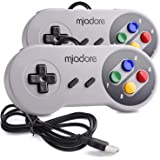 2 Pack USB Controller for SNES Retro Gaming, miadore USB Classic Gamepad Joypad Gamestick for Windows PC MAC Linux…