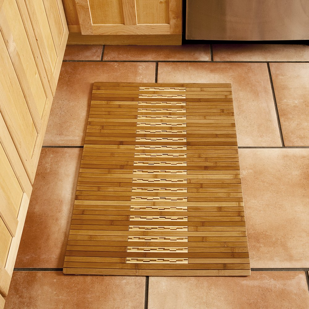 Very large bath rugs search - Amazon Com Anji Mountain Amb0090 0023 Bamboo Kitchen And Bath Mat Natural 24 X 36 Inch Kitchen Dining