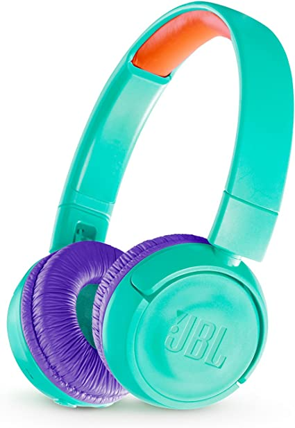 Amazon Com Jbl Jr 300bt Kids On Ear Wireless Headphones With Safe Sound Technology Teal Health Personal Care