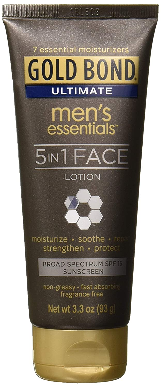 Gold Bond Ultimate Men's Essentials 5-in-1 Face Lotion, 3.3 Ounce