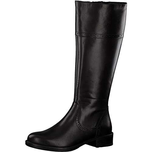 Tamaris Damen Stiefel 25547 21,Frauen Boots,Lederstiefel,Reißverschluss,Blockabsatz 3.5cm