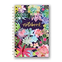 Studio Oh! SJ003 Hardcover Spiral Notebook Available in 9 Different Designs, Mia Charro Succulent Paradise