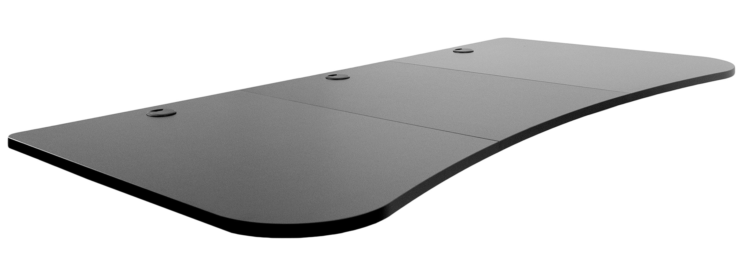 VIVO Black 63 x 32 inch Universal Table Top for Standard and Sit to Stand Height Adjustable Home and Office Desk Frames | 3 Section Desktop (DESK-TOP1B) by VIVO