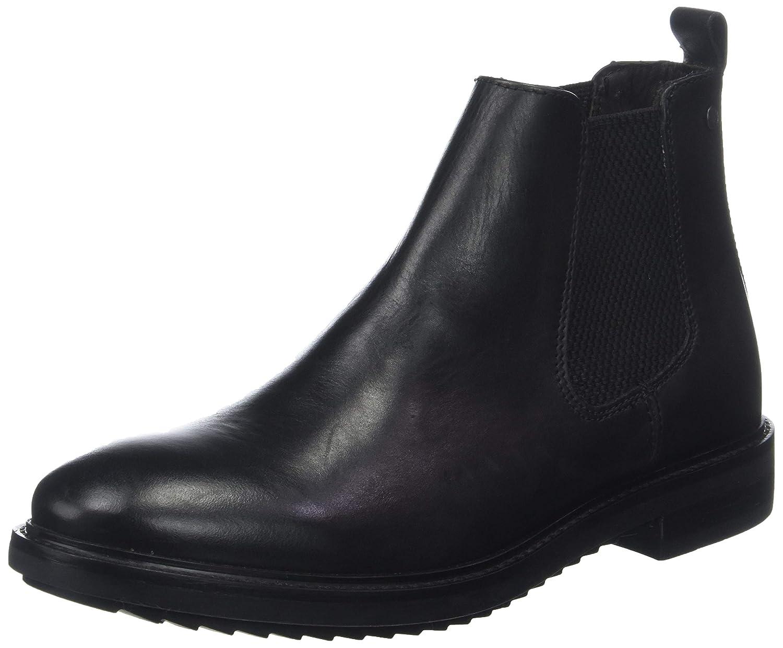 Noir (Waxy noir 010) Base London Dalton, Bottines Chelsea Homme Homme  jusqu'à 34% de réduction sur tous les produits