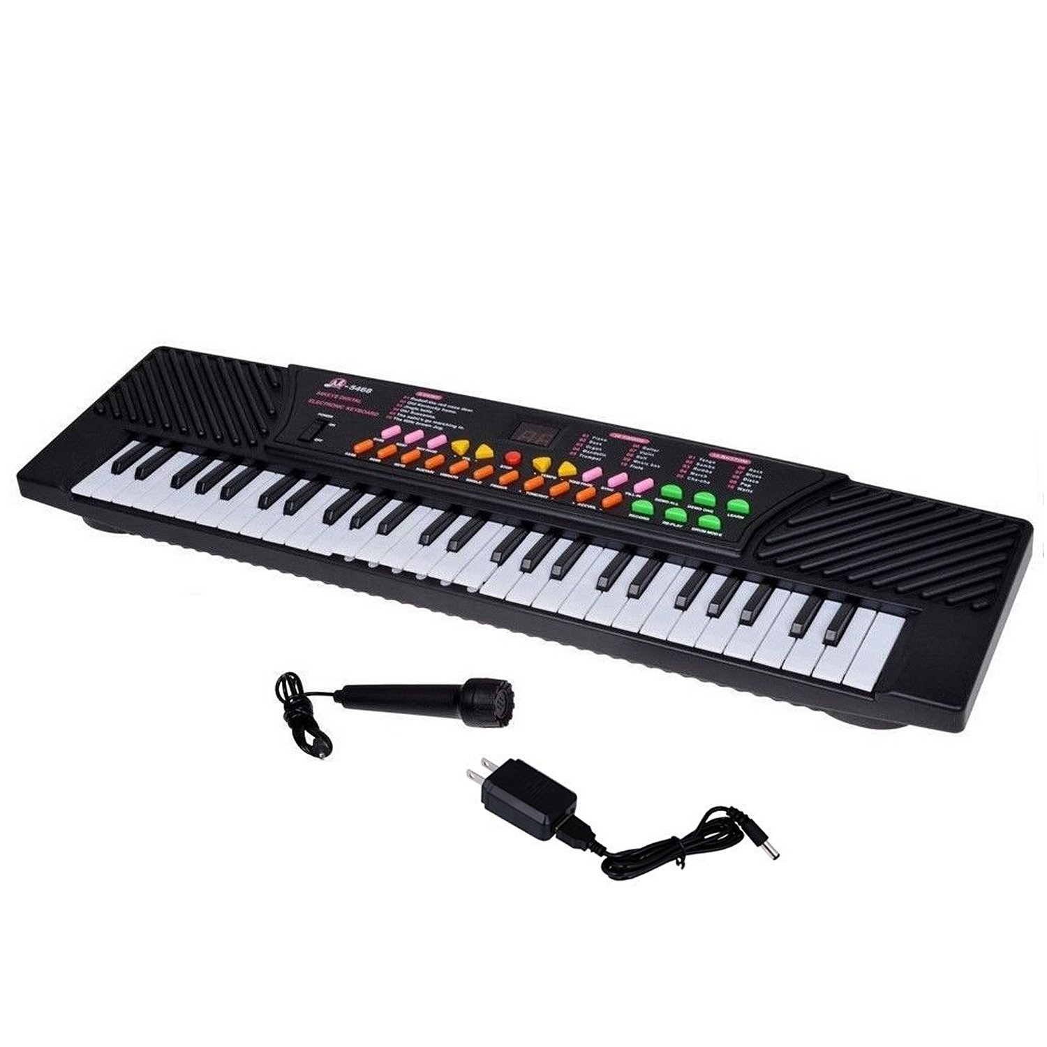 Big Lighting Deals 54 Keys Children's Keyboard Electronic Musical Piano for Beginners and Kids with External Speaker/Microphone & Power Adapter