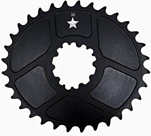 USA Made Oval BB30/GXP SharkTooth Pro Mountain Chainring Made in USA (30/32/ 34 Tooth) CNC MACHINED- New- Closeout
