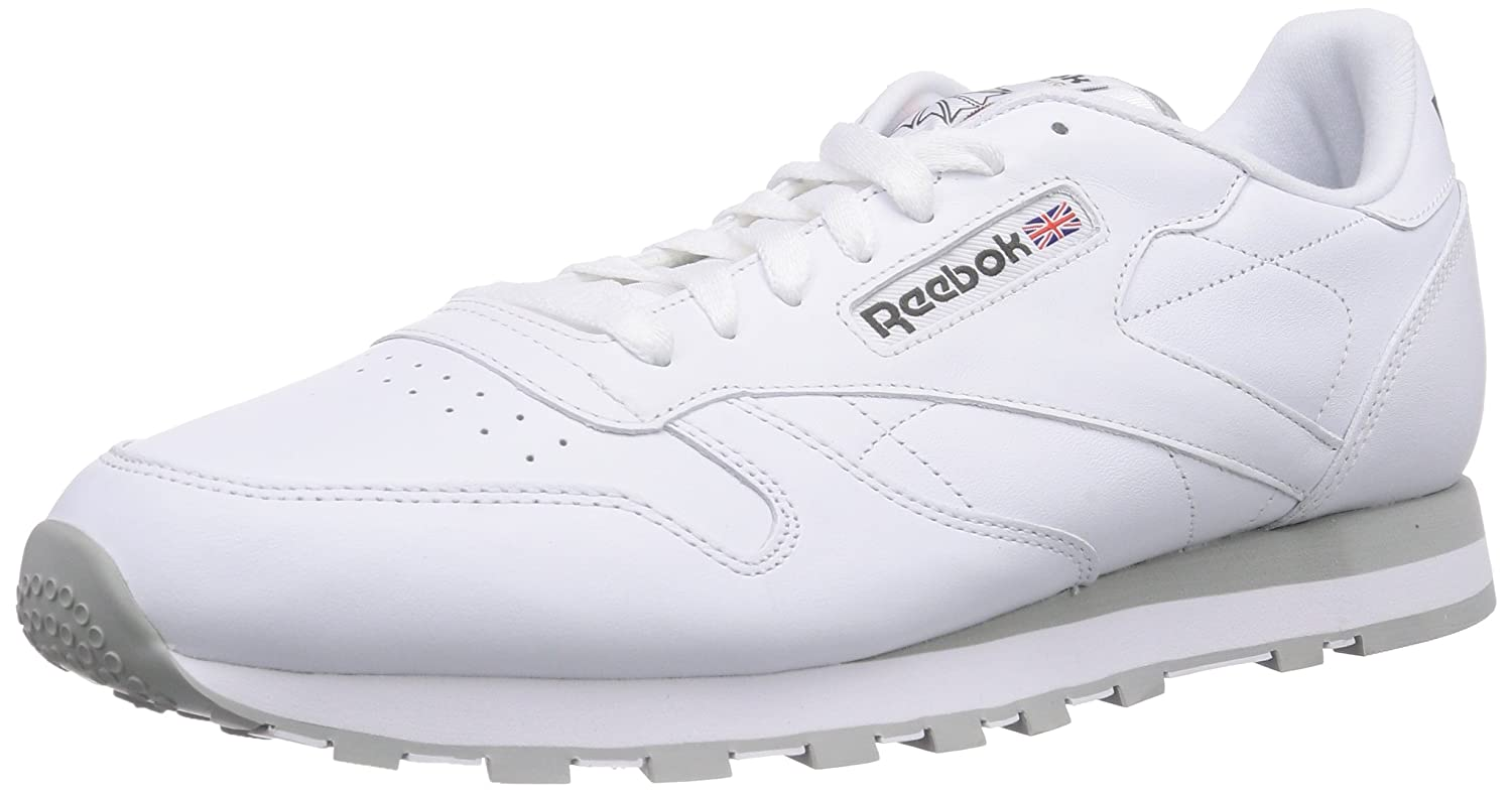 Reebok Unisex-Erwachsene Classic Leather Sneakers  50 EU|Wei? (Int-white/Lt. Grey)