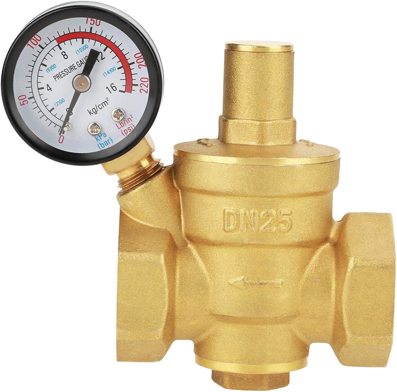 Riduttore regolatore di riduzione della pressione dellacqua regolabile in ottone misuratore di livello con connettore DN25 32mm 504g