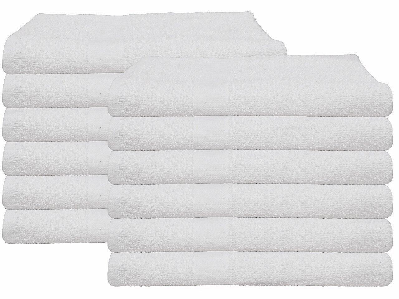 (5 Dozen) 60 PCS NEW WHITE 20X40 100% COTTON ECONOMY BATH TOWELS SOFT & QUICK DRY