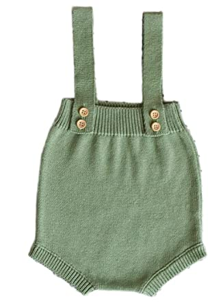 98afc9cfc304 Image Unavailable. Image not available for. Color  Baby Knitting Rompers  Cute Overalls Newborn ...