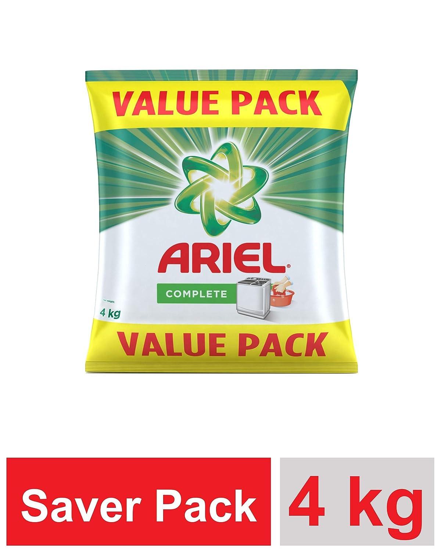 - 4Kg Value Pack – Ariel Complete Detergent Washing Powder