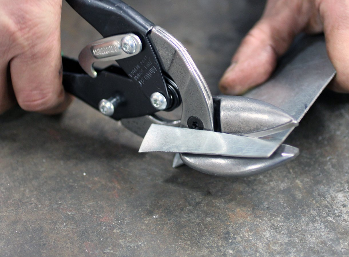 MIDWEST Aviation Snip - Right Cut Offset Tin Cutting Shears with Forged Blade & KUSH'N-POWER Comfort Grips - MWT-6510R