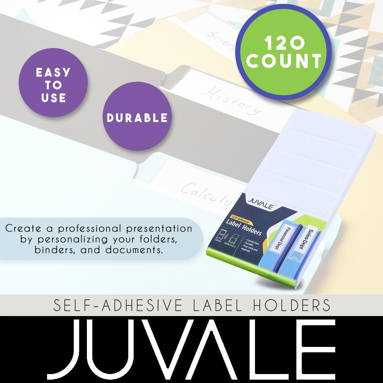 amazon com 120 plastic inserts for binder self adhesive