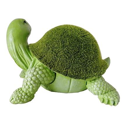 Beau Garden Turtle Statue   Resin Tortoise Cuckold Sculpture Decor, Artificial  Turf Grass, Flocking Surface