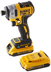 DEWALT DCF888D2 20V Max XR Brushless Tool Connect Impact Driver Kit, with (2) 2Ah XR Brushless Batteries