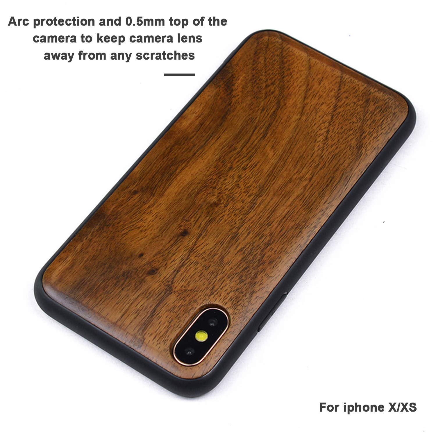 Amazon.com: Boogice iPhone 8 funda de madera – Premium ...