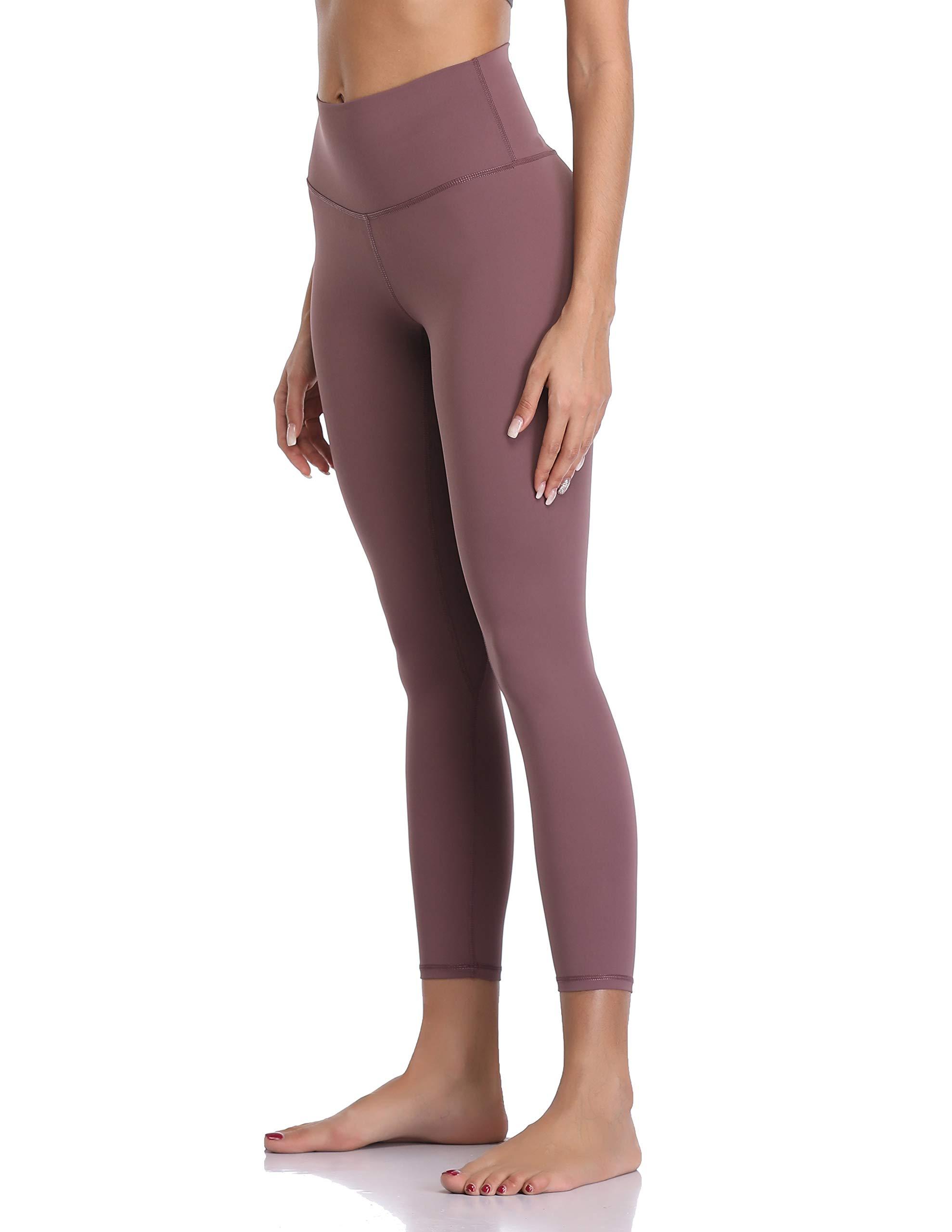 Colorfulkoala Women's Buttery Soft High Waisted Yoga Pants 7/8 Length Leggings (XL, Dusty Red) by Colorfulkoala