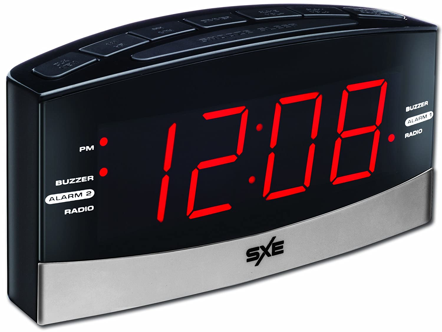 Amazon Sxe SXE86007 Large Display AM FM Clock Radio Home Kitchen